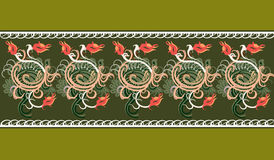 Pattern. Bright floral ornament made ​​in vector Royalty Free Illustration