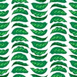 Pattern with bright green husta leaves Royalty Free Stock Photo