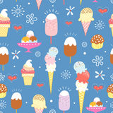 Pattern of bright ice cream Royalty Free Stock Image