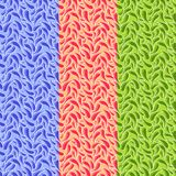 Pattern with bright separated paisley elements. royalty free illustration