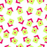 Pattern of brightly geometric shapes Royalty Free Stock Photo