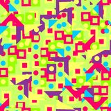 Pattern of brightly geometric shapes Stock Images