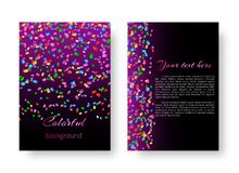 Pattern brochure with colored confetti Royalty Free Stock Image