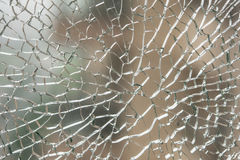 Pattern of a broken glass Royalty Free Stock Photos