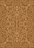 Pattern with brown curled background Royalty Free Stock Photography