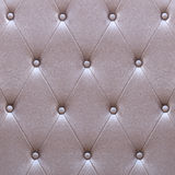 Pattern of brown leather seat upholstery Stock Image