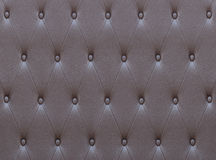 Pattern of brown leather seat upholstery Royalty Free Stock Images