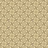 Pattern brown seamless. Arabesque ornament Royalty Free Stock Image