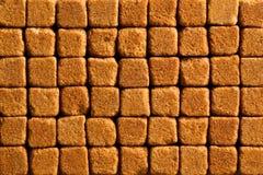 Pattern of brown sugar cubes Stock Photo