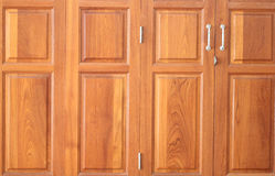 Pattern on brown wood door. Royalty Free Stock Image