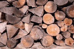 Pattern of brown wood log background texture Stock Photo