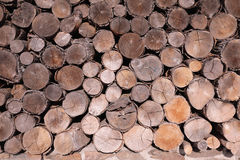 Pattern of brown wood log background texture Royalty Free Stock Images