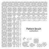 Pattern brush collection arabic style. Vector illustration. Pattern brush collection arabic style. Vector illustration Royalty Free Stock Photo