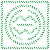Pattern brush from green Leaves Royalty Free Stock Images
