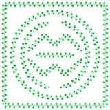 Pattern brush from green Leaves Royalty Free Stock Photo