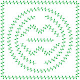 Pattern brush from green Leaves Stock Photography