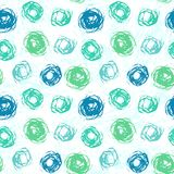 Pattern with brushed circles in spring colors Stock Photos