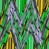 Pattern with brushed zigzag line in grass green. Pattern with brushed zigzag line in grass stock illustration