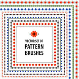 Pattern brushes. With ukrainian ornament Royalty Free Stock Photo