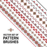 Pattern brushes. With ukrainian ornament Royalty Free Stock Photos