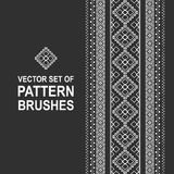 Pattern brushes. With ukrainian ornament Royalty Free Stock Image