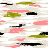 Pattern with brushstrokes and stripes Royalty Free Stock Images