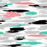 Pattern with brushstrokes and stripes Stock Photos