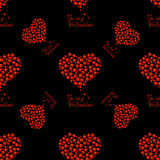 Pattern of bubble hearts Royalty Free Stock Photo