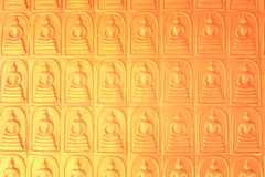 Pattern  buddha statue golden in temple Thailand Stock Photo