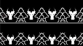 Pattern with a bull's head Royalty Free Stock Image