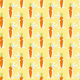 Pattern with bunny and carrot Stock Photo