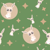 Pattern with the bunny Royalty Free Stock Photography