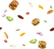 Pattern with burger ads without any background stock photography