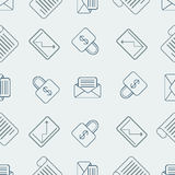 Pattern with bussines elements. Seamless pattern with bussines elements Stock Photography