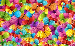 Pattern of buterflies Royalty Free Stock Photo