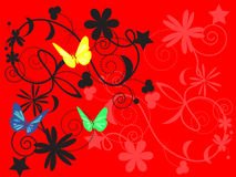 Pattern with butterflies Stock Photos