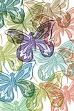 Pattern with butterflies Stock Photo