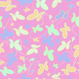 Pattern of butterflies on a pink background Royalty Free Stock Photos