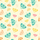 pattern with butterflies of random size and color Stock Photos