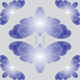 Pattern with butterflies. Seamless pattern with beautiful butterflies on background Royalty Free Stock Image