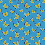 Pattern with butterflies Stock Photography