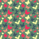 Pattern with butterflies. Seamless pattern with simple colored butterflies Royalty Free Stock Image