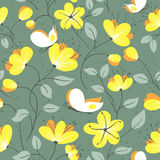 Pattern with butterfly Stock Images