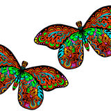 Pattern of butterfly. Hand draw colorfull butterfly background Royalty Free Stock Image