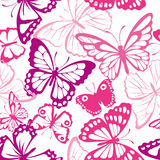 Pattern with butterfly Royalty Free Stock Photography
