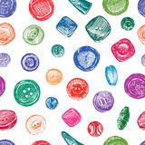 Pattern with buttons Stock Photography