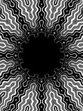 Pattern bw. Black and white pattern with black hole in the middle Stock Images