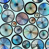 Pattern of bycicles wheels. vector illustration