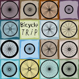 Pattern of bycicles wheels vector illustration