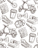 Pattern for café, restaurants, bars, pizzerias Royalty Free Stock Images